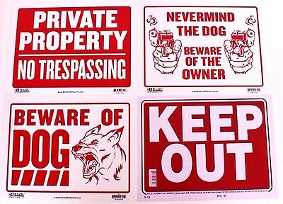 Warning Caution Business House Door Wall Signs Plastic Large A4 Size Waterproof