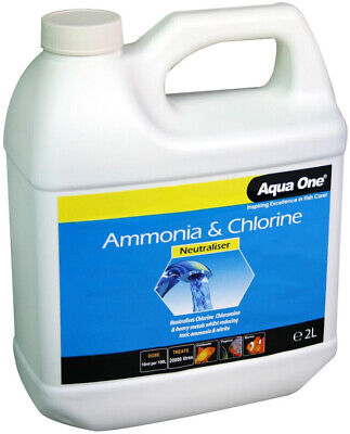 Aqua One Ammonia & Chlorine Neutraliser Aquarium Fish Tank Water Conditioner 2L