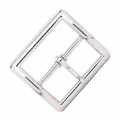 "Center Bar Buckle Square 1-3/4"" Nickel Plate 1586-02"