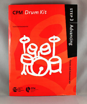 AMEB CPM Drum Kit Course & Assessment Kit and CD - Step 3 Advancing - Brand New