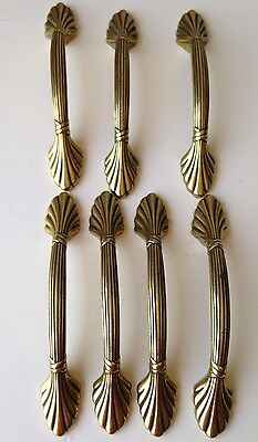 Vintage Brass Drawer Dresser Pulls Handles Shabby Chic Tropical Tribal Lot of 7