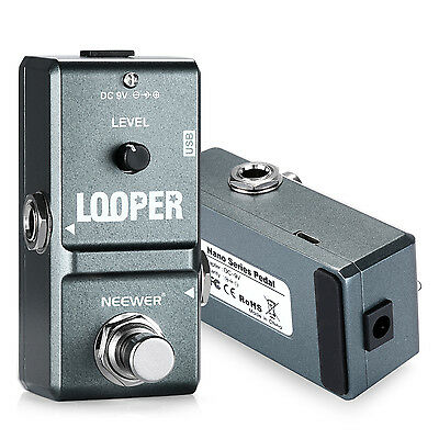 Neewer Electronic Guitar Looper Pedal  Unlimited Overdubs 10 Minutes Recording