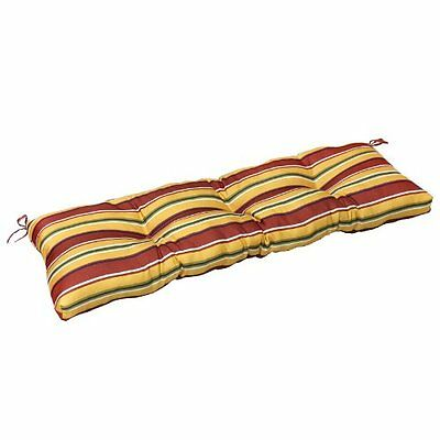 Greendale Home Fashions 51in Outdoor Bench Cushion, Carnival Stripe NEW