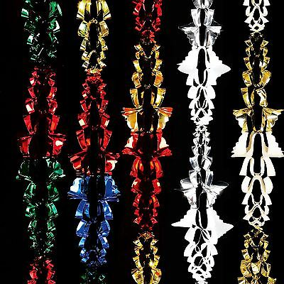 2.7m Foil Red Green Multi Garland Ceiling Home Christmas Xmas Garland Decoration