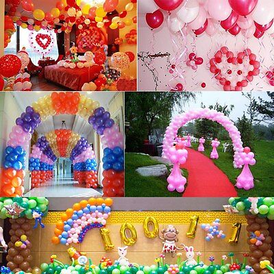 """20/50/100 Colorful Birthday Wedding Baby Shower Party Pearl Latex Balloons 10"""" H"""