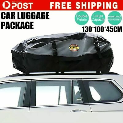 New Car 4WD 130x110x46cm Waterproof Roof Bag Cargo Luggage Roof Storage Bag