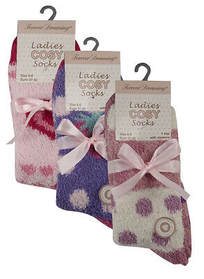 FOREVER DREAMING Ladies Socks Womens Cosy Grippers Winter Warm Soft Gift