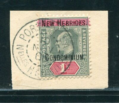 New Hebrides King Edward 7Th Rare 1/- Stamp