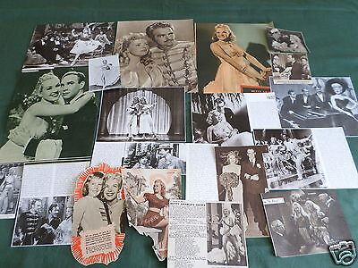 Betty Grable - Film Star - Clippings /cuttings Pack