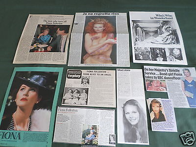 Fiona Fullerton  - Film Star - Clippings /cuttings Pack