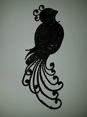 Light pink embroidery Peacock patch lace applique irish dance dress costume