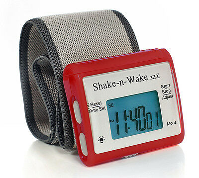 Tech Tools Shake-n-Wake Silent Vibrating Alarm Wrist Watch (Red) PI-107