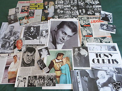 Tony Curtis - Film Star - Clippings /cuttings Pack
