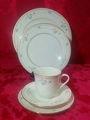 Lenox ROSE MANOR PINK 5 Piece Place Setting Dinner Salad Bread Cup, Saucer USA