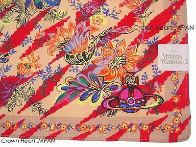 New Vivienne Westwood Handkerchief Mini Scarf Jungle Floral Orb JP-Licensed Rare