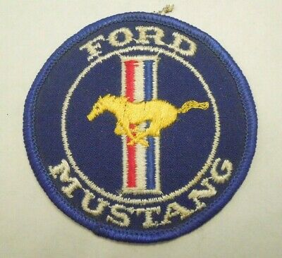 Vintage Ford Mustang Car Automobilia Emblem Embroidered Iron On Patch