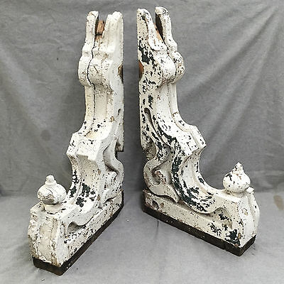 Antique Pr Wood Corbels Brackets Victorian Gingerbread Shabby Old Chic 1188-16