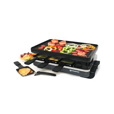 Swissmar - Raclette - 8 Person Classic Raclette Party Grill - Cast Iron Grill Pl