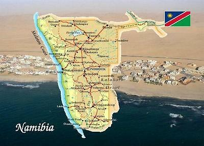 Namibia Country Map Southern Africa New Postcard