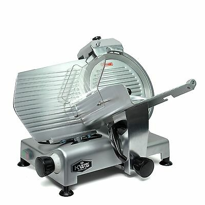 "KWS Premium Commercial 420W Electric Meat Slicer 12"" Frozen meat Deli slicer"