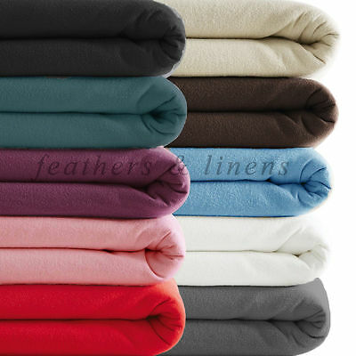 "100% Cotton Brushed Thermal Flannelette Extra Deep 16""/ 40 cm Bed Fitted Sheet"