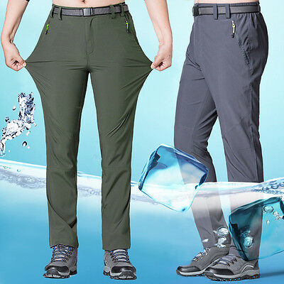 Men Outdoor Sport Breathable Stretch Hiking Climbing Quick-drying Pants Trousers