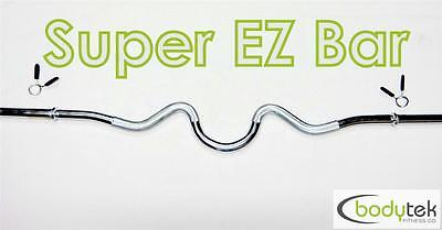 Super EZ Curl Standard Bar Barbell Weight Bench Gym Fitness Body Building