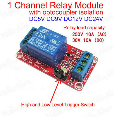 1-Channel H/L Level Triger with Optocoupler Relay Module Board for Arduino