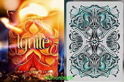 Bicycle Ellusionist Combo Ignite + Fathom US Playing Cards Poker Magic 2016 SALE