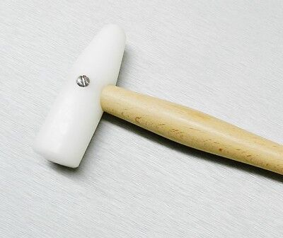 NYLON HAMMER PLASTIC MALLET 85mm DELRIN HEAD DOME & ROUND JEWELRY FORMING