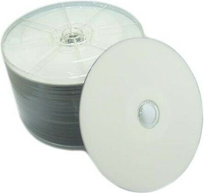 100 pcs 16X Blank DVD-R DVDR White Inkjet HUB Printable Disc Media 4.7GB