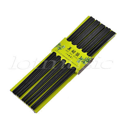 Black Melamine Square Chopsticks Tableware for Home Restaurant 10 Pairs