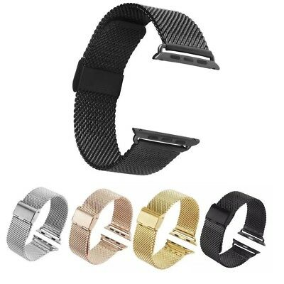 Milanese Mesh Stainless Steel Loop Band For Apple Watch iWatch 5 4 3 2 Bracelet