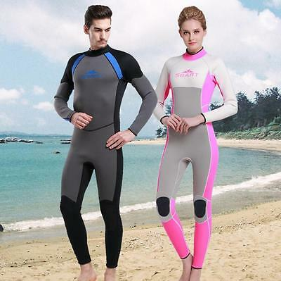 3mm Neoprene Adult Coverall Thermal Wetsuit Winter Swimming Surfing Diving