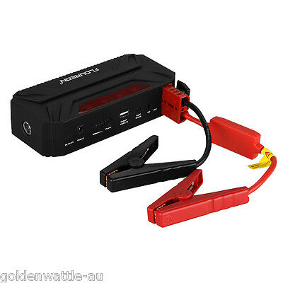 12V Auto Car Jump Starter Portable Power Bank batterie chargeur booster LED 300A