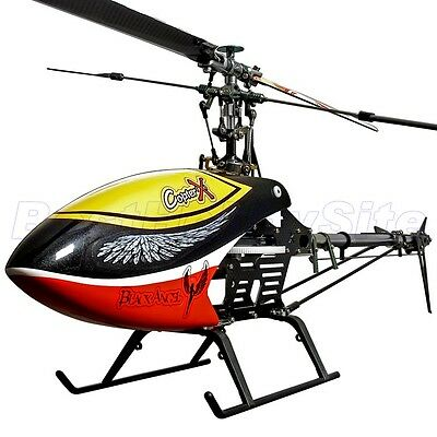 CopterX CX 450 Black Angel Barebone Kit Flybar 3D RC Helicopter Pro HK Ship