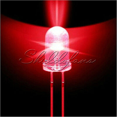 50PCS 5mm Round Red Water Clear LED Light Diodes Kit