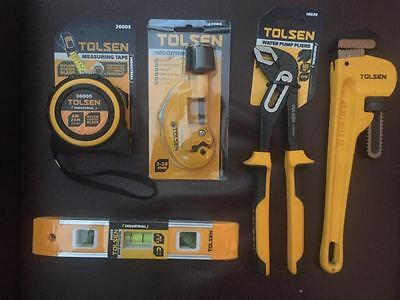 Joblot of New Hand Tools Tape Measure Pipe Cutter Water Pump Pliers Wrench Level