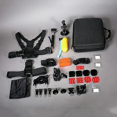 Nylon &ABS Compatible with GoPro Hero 1/2/3/4 LCD Travel Storage Accessories Set
