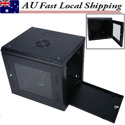 "New 9U 19"" Enclosure Rack System Wall Mount Network Suit Server Cabinet Lockable"
