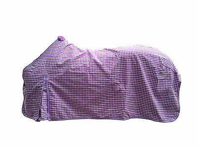 Axiom Polycotton Lavender & White Ripstop Unlined Horse Rug 6'6