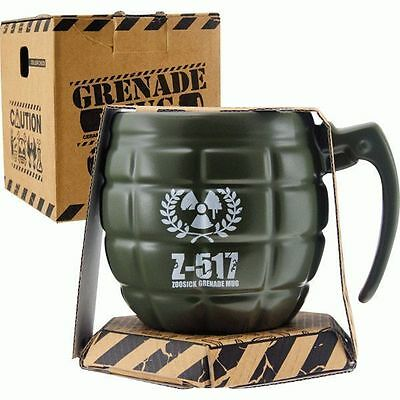 Grenade Coffee Tea Mug Ceramic Cup Fun Novelty Gift with Textured Finish