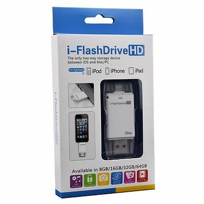 i-Flash Drive OTG Device USB Memory Stick Apple Flash 16/32/64GB For iPhone 5S 6