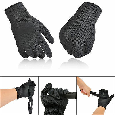 2x Stainless Steel Wire Safety Work Anti-Slash Cut Proof Stab Resistance Gloves