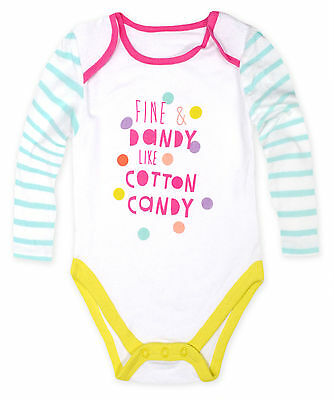 Girls Baby Grow Kids New Cotton Playsuits One Piece White Ages 3 6 9 12 Months