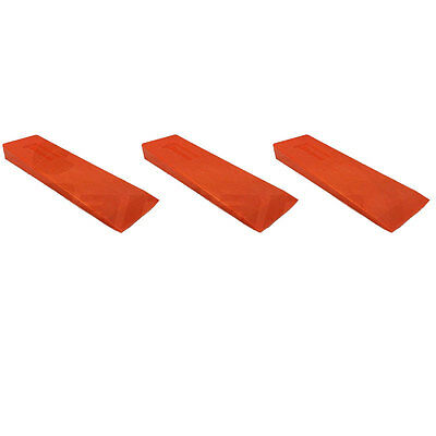 "Set of 3 Husqvarna Felling Bucking 10"" Wedge High Impact ABS Plastic 608201001"