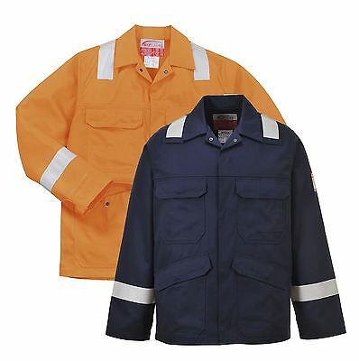 Portwest Bizflame Plus Jacket workwear Orange and Navy Bomber Jacket FR25