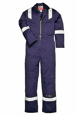 Portwest Lightweight Flame Resistant Antistatic Coverall Overall Boilersuit FR28