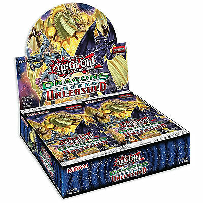 YuGiOh Cards: Dragons of Legend 3 Unleashed Factory Sealed Booster Box- 24 Packs