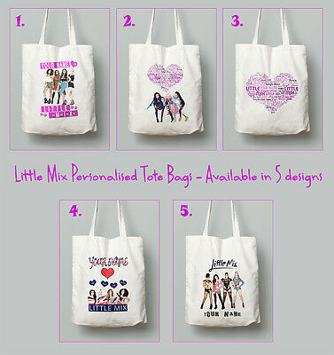 Personalised Little Mix Tote Bag Large PE Dance Gym Any Name School Swimming